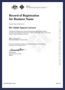 DSN - Business Registration