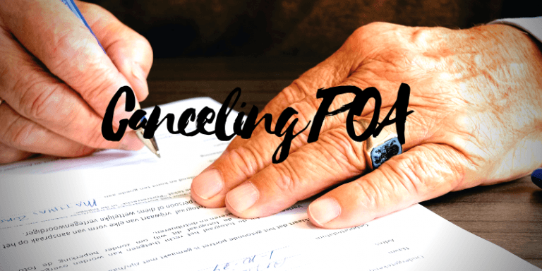 Canceling a Power of Attorney